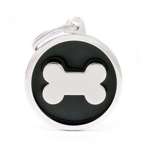 Placa-circular-hueso-negra