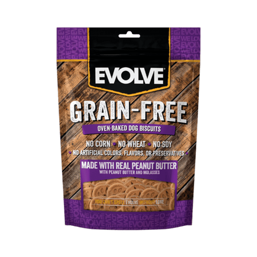 Galleta-Para-Perro-Snack-Evolve-Grain-Free-Biscuit-Mantequilla-De-Mani