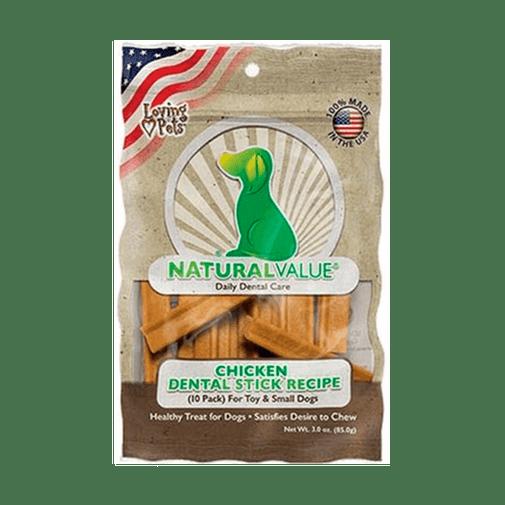 Snack-Para-Perro--Natural-Value-Chicken-Flavor-Dental-Sticks