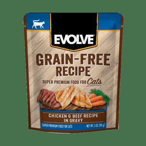 Alimento-Humedo-Para-Gato-Evolve-Grain-Free-Pouche-Pollo-Y-Res