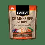 Alimento-Humedo-Para-Gato-Evolve-Grain-Free-Pouche-Pavo-Y-Vegetales