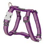 pechera-perro-reflective-bones-purpura